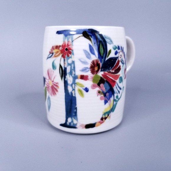 Anthropologie Mug Monogram Letter B Coffee Cup